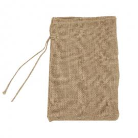 Jute zakken met sluitkoord 20 x 30 cm (per stuk)